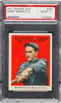 Baseball Cards:Singles (Pre-1930), 1914 Cracker Jack Rabbit Maranville #136 PSA NM-MT 8 - Pop One,None Higher!...