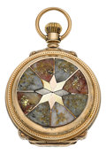 Timepieces:Pocket (pre 1900) , Hamilton Private Label Gold In Quartz 18 Size Box Hinge, circa 1897. ...