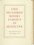 Books:Medicine, [Medicine, Grolier Club]. Hope Mayo, Editor. One Hundred Books Famous in Medicine. Introduction by Haskell F. Norman...