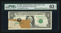 Error Notes:Obstruction Errors, Fr. 1914-B $1 1988 Federal Reserve Note. PMG Choice Uncirculated 63EPQ.. ...