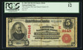 National Bank Notes:Pennsylvania, East Mauch Chunk, PA - $5 1902 Red Seal Fr. 589 The Citizens NB Ch.# (E)8446. ...