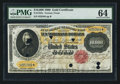 Large Size:Gold Certificates, Fr. 1225c $10,000 1900 Gold Certificate PMG Choice Uncirculated 64.. ...