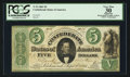 Confederate Notes:1861 Issues, T33 $5 1861 PF-6 Cr. 253Fb.. ...