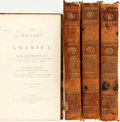 Books:Americana & American History, [Maps, Americana]. William Robertson. The History ofAmerica, Vols. I - IV. London: A. Strahan, T. Cadell and W....(Total: 4 Items)