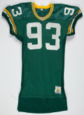 Football Collectibles:Uniforms, 1991 Robert Brown Game Worn Green Bay Packers Jersey....