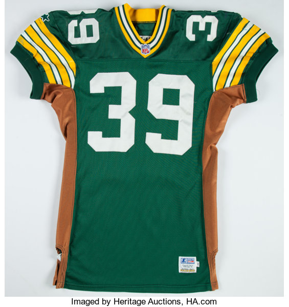 size 40 1d621 27e46 1996 Mike Prior Game Worn Green Bay Packers Jersey ...