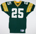 Football Collectibles:Uniforms, 1992 Vinnie Clark Game Worn Green Bay Packers Jersey....