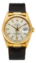 Timepieces:Wristwatch, Rolex Ref. 1601 Vintage Gold Oyster Perpetual Datejust, circa 1960's. ...