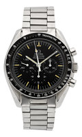 Timepieces:Wristwatch, Omega 145.022-69 Speedmaster Professional Moon Watch, circa 1970. ...