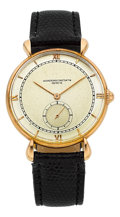 Timepieces:Wristwatch, Vacheron & Constantin Rose Gold Wristwatch, circa 1940's. ...