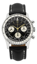 Timepieces:Wristwatch, Breitling A.O.P.A. Stainless Steel Navitimer, circa 1953. ...