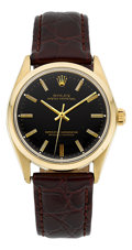 Timepieces:Wristwatch, Rolex Ref. 1005 Vintage Gold Oyster Perpetual, circa 1960. ...