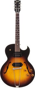 Musical Instruments:Electric Guitars, 1958 Gibson ES-225TD Sunburst Semi-Hollow Body Electric Guitar,Serial # T 6960 3....