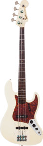 Musical Instruments:Bass Guitars, 1964 Fender Jazz Bass White Electric Bass Guitar, Serial # L00671....