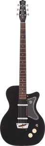 Musical Instruments:Bass Guitars, Joe Satriani Owned 1957 Danelectro UB-2 Black Baritone Guitar....
