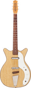Musical Instruments:Electric Guitars, 1960 Danelectro Companion Natural Solid Body Electric Guitar....