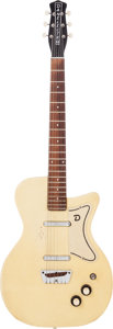 Musical Instruments:Electric Guitars, 1957 Danelectro U2 Yellow Ostrich Solid Body Electric Guitar....