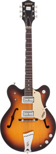 Musical Instruments:Electric Guitars, 1968 Gretsch Streamliner Sunburst Semi-Hollow Body Electric Guitar,Serial # 28586....
