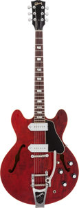 Musical Instruments:Electric Guitars, 1968 Gibson ES 330 TDC Cherry Semi-Hollow Body Electric Guitar,Serial # 512135....