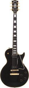 Musical Instruments:Electric Guitars, 1956 Gibson Les Paul Custom Black Solid Body Electric Guitar,Serial # 612355....