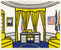 Prints, Roy Lichtenstein (American, 1923-1997). The Oval Office, 1992. Screenprint in colors on Rives BFK paper. 29-3/4 x 39-1/4...
