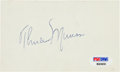 Baseball Collectibles:Others, 1970's Thurman Munson Signed Index Card....