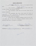 Baseball Collectibles:Others, 1991 Mickey Mantle Signed Autograph Signing Contract....