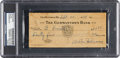 Baseball Collectibles:Others, 1939 Walter Johnson Signed Check....