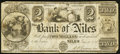 Obsoletes By State:Michigan, Niles, MI- Bank of Niles $2 Jan. 8, 1838. ...
