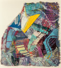 Post-War & Contemporary:Contemporary, Sam Gilliam (American, b. 1933). Butterfly Days (from theButterfly series). Mixed media collage. 52 x 48 inches(13...