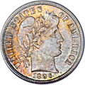 Barber Dimes, 1896-S 10C MS65 PCGS. CAC....