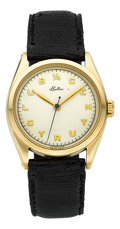 Timepieces:Wristwatch, Rolex Ref. 6022 Gold 1/4 Century Club Watch For Eaton Co., circa1950's. ...