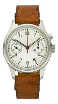 "Timepieces:Wristwatch, Rodania Very Rare ""RCAF"" Single Button Aviator's Chronograph, No. HB 1523 6W/16. ..."