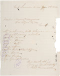 Autographs:Celebrities, Pete Maxwell: A Rare Signature of the Owner of the House in whichBilly the Kid was Killed....