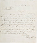Autographs:Celebrities, Judge Roy Bean: A Rare Early Letter Signed by the Notorious TexasJudge, with Excellent Content....