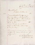 Miscellaneous:Ephemera, Frank James: Court Document Related to His 1883 Missouri Trial....