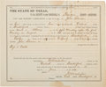 Miscellaneous:Ephemera, John Selman: A Great 1880 Document Charging Him with Theft ofCattle....