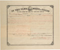 Autographs:Statesmen, Lawrence Sullivan Ross: An 1890 Land Grant Signed by the LegendaryRanger, Indian Fighter, Confederate General and Texas Gover...