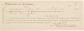 Autographs:Celebrities, Heck Thomas: 1895 Receipt Signed by the Famous Oklahoma Lawman....
