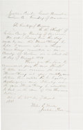 Autographs:Celebrities, Miles Wood: An 1877 Document Signed by the Justice of the Peace Who First Tried to Rein in Billy the Kid....