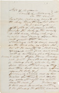 "Autographs:Celebrities, Judge Isaac Parker: A Scarce Signed Document in the Hand of the""Hanging Judge.""..."