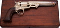 Handguns:Single Action Revolver, Cased and Engraved Colt Pocket Single Action Revolver....