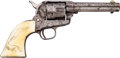 Handguns:Single Action Revolver, Engraved Colt Single Action Army Revolver....
