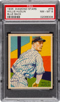 Baseball Cards:Singles (1930-1939), 1934-36 Diamond Stars Willis Hudlin, 1935 Blue #79 PSA NM-MT 8....