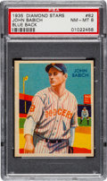Baseball Cards:Singles (1930-1939), 1934-36 Diamond Stars John Babich, 1935 Blue #82 PSA NM-MT 8 - Pop Six, None Higher!...