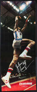 Basketball Collectibles:Others, 1979 Julius Dr. J Erving Original Converse Poster - Near LifeSized. ...