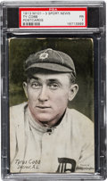 Baseball Cards:Singles (Pre-1930), Scarce Ty Cobb 1913 M101-3 Sporting News Post Card PSA Poor 1. ...
