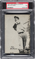 Baseball Cards:Singles (1940-1949), Scarce 1947 Bond Bread Exhibits Ted Williams PSA NM 7....