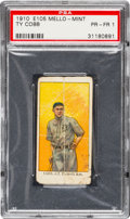 Baseball Cards:Singles (Pre-1930), 1910 E105 Mello-Mint Ty Cobb PSA Poor 1 - One of Only Two RecordedExamples....