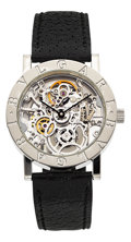 Timepieces:Wristwatch, Bvlgari Very Fine White Gold Skeletonized Automatic. ...